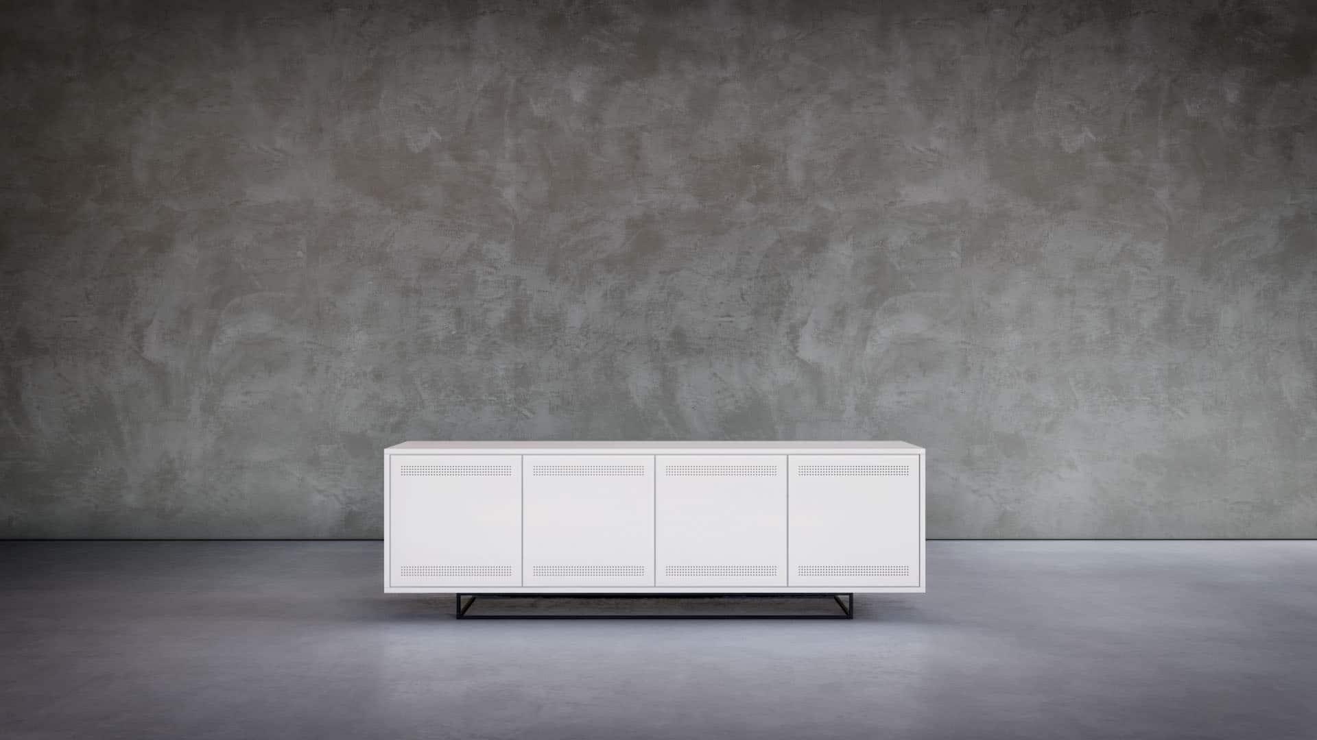 3D product render van een kast