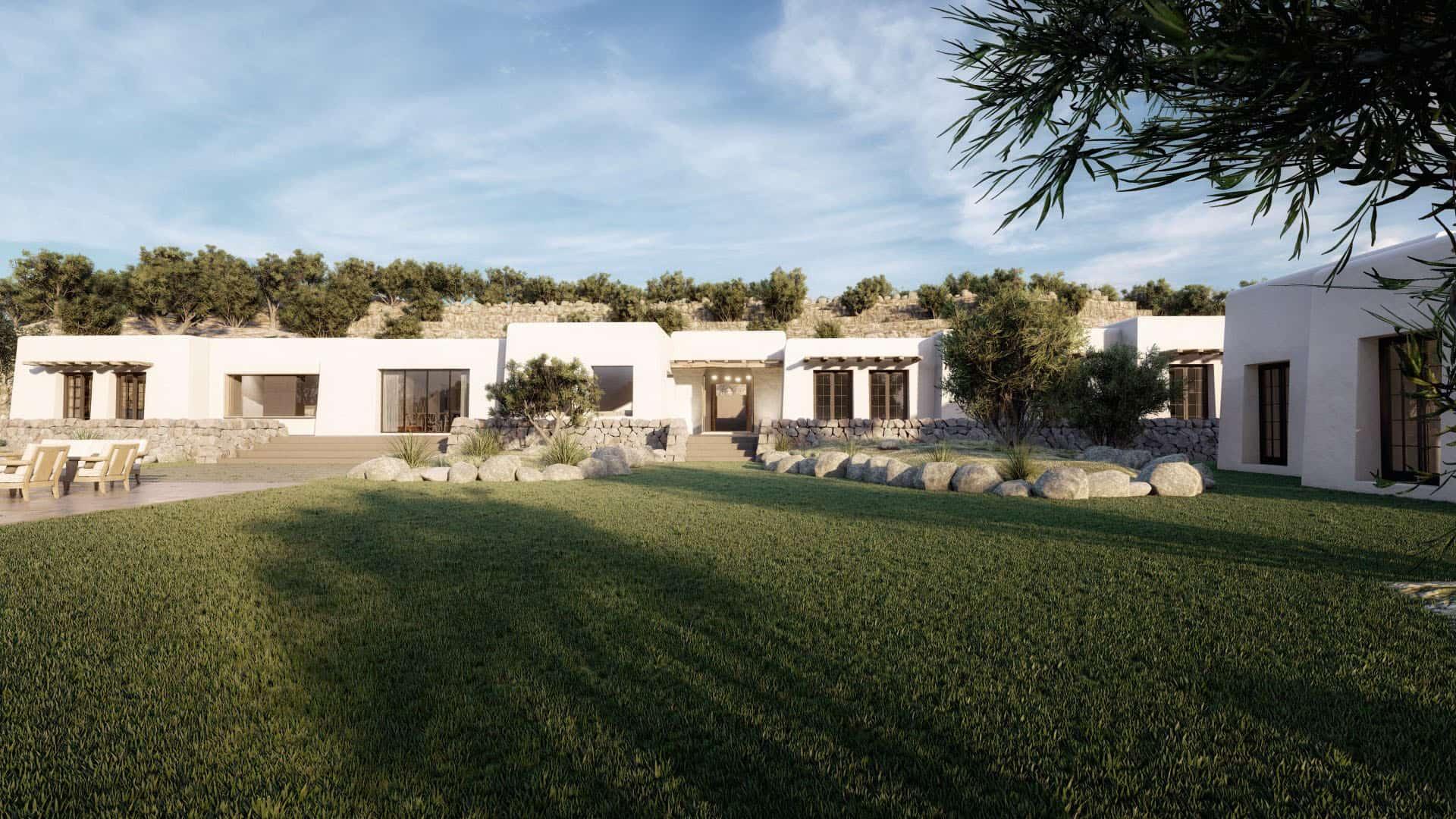 3d visualisaties architectuur woning in Ibiza