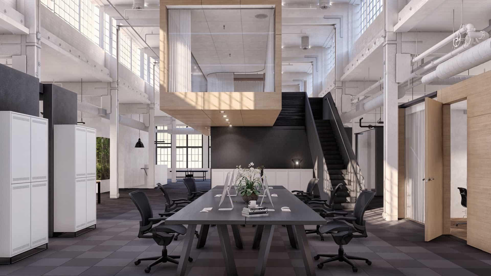 3d interieur visualisatie kantoor