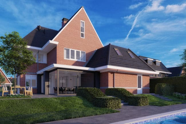 3D architectuur visualisatie render