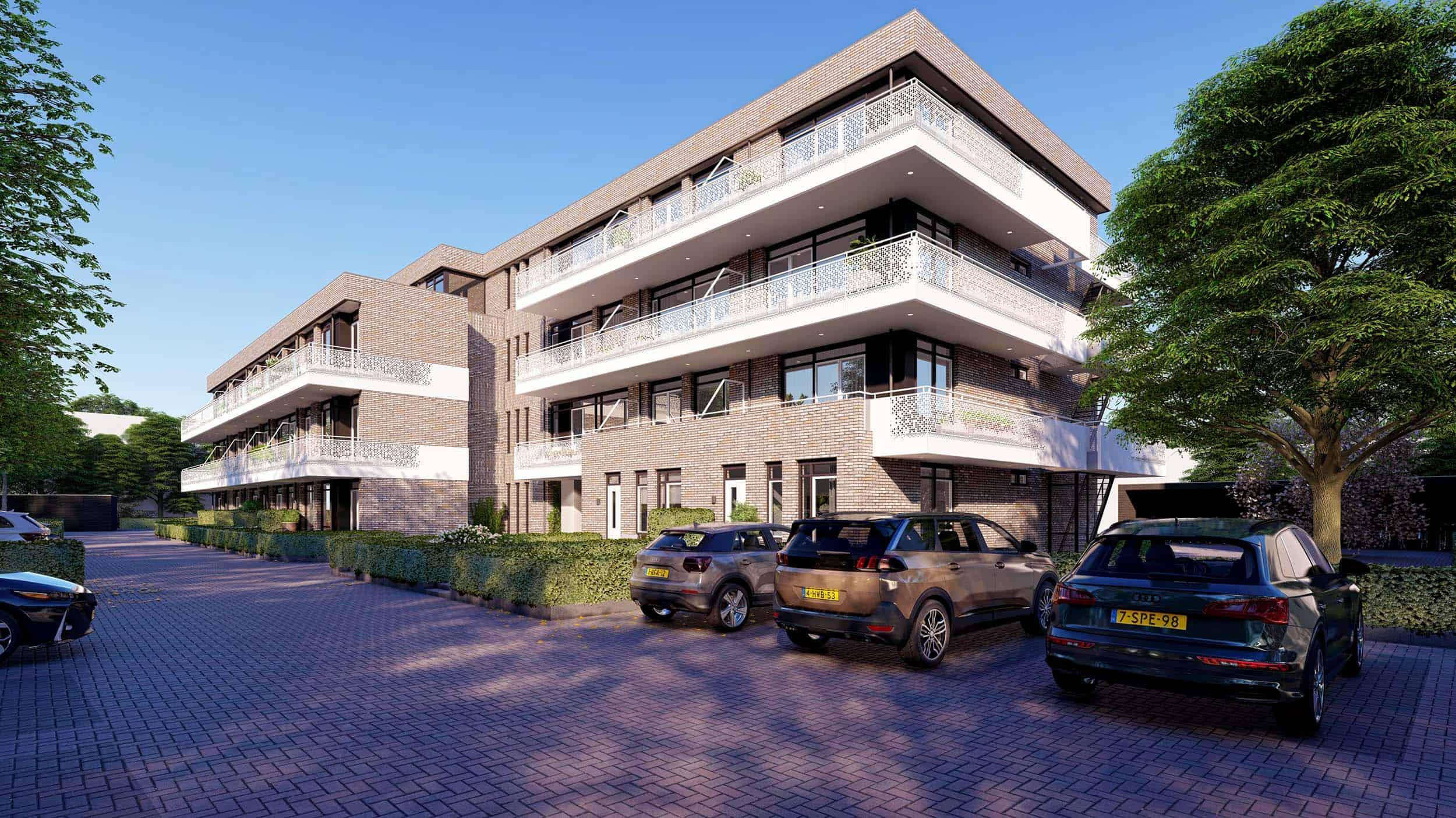 3d visualisatie architectuur appartementen